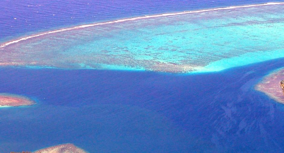 Moorea island aerial image